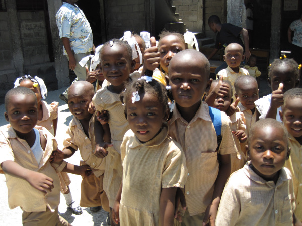 Students in Port-au-Prince